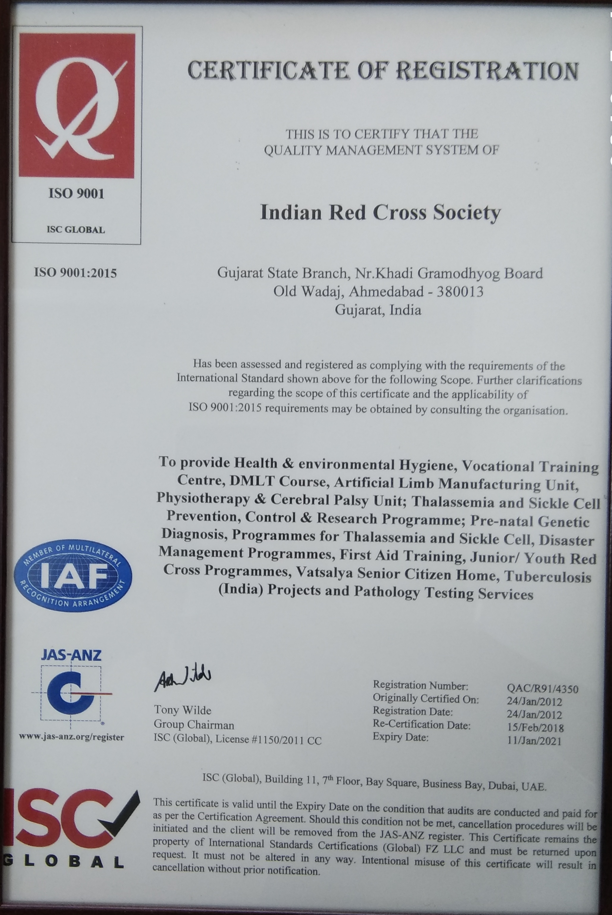 Welcome To Indian Red Cross Society Gujarat